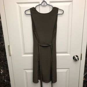 Navy green express dress